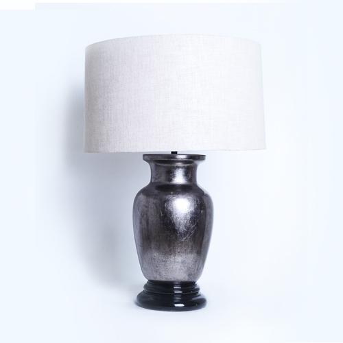 Silver Lamp with Nude Shade - SASA Creations