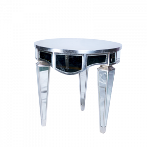 Silver Mirror Table Front